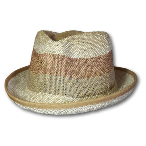 Faded Stripe Fedora