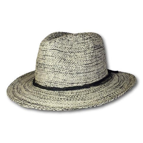 Two Tone Raffia Band Fedora