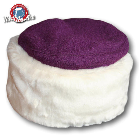 Faux Fur Boiled Wool Cuffed Hat