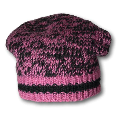 Two Tone Knit Slouchy Toque
