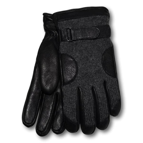 Men's Classic Wool and Leather Gloves