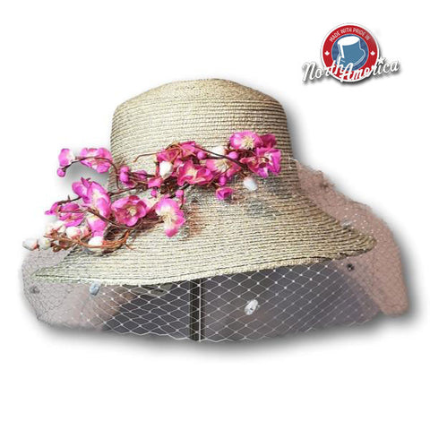 Cherry Blossom Branch Dress Hat
