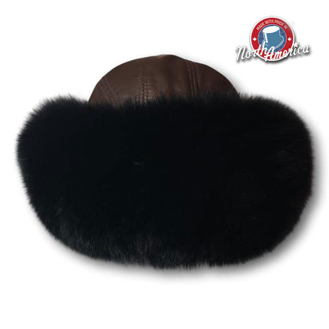 Two-Tone Fox Fur Cuff Hat