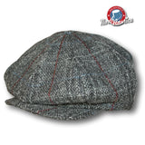 Harris Tweed 8 Panel Newsboy
