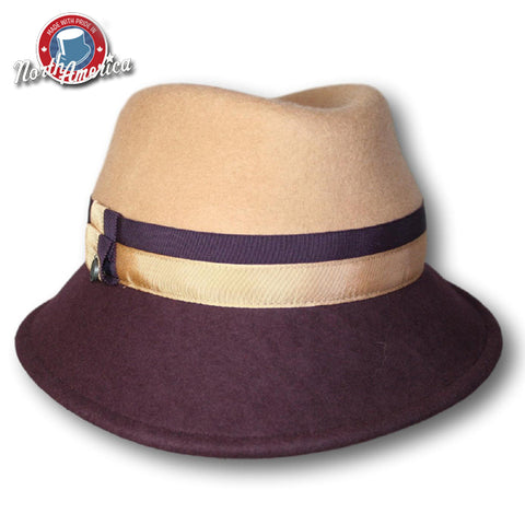 Two Tone Contrast Fedora