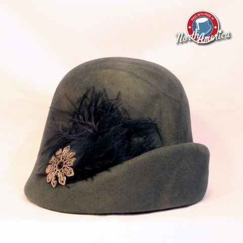 Upturned Feather Cloche