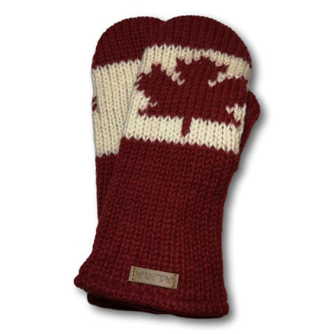 Canadiana Knit Mittens