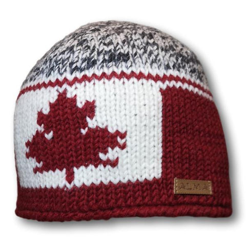 Three Tone Canadiana Knit Toque