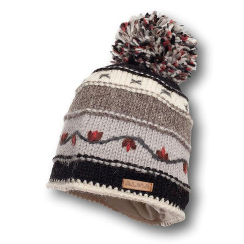 Vine Stripe Pom Knit Toque