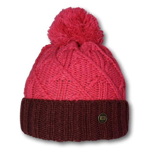 Two Tone Cross Knit Toque