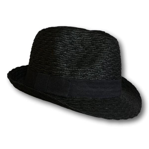 Scalloped Straw Fedora