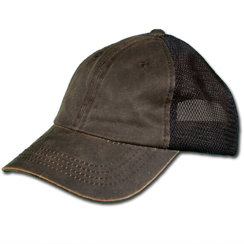 Distressed Mesh Back Ball Cap