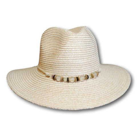 Beach Glass Beads Fedora