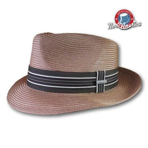 Biltmore Earthy Tone Striped Fedora