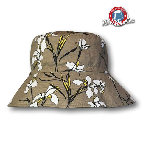Lily Print Brimmed Hat