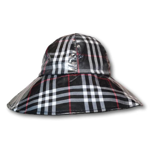 Plaid Rain Hat