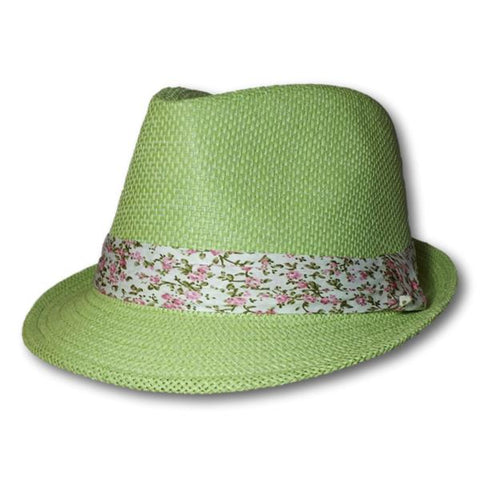 Fedora With Floral Band