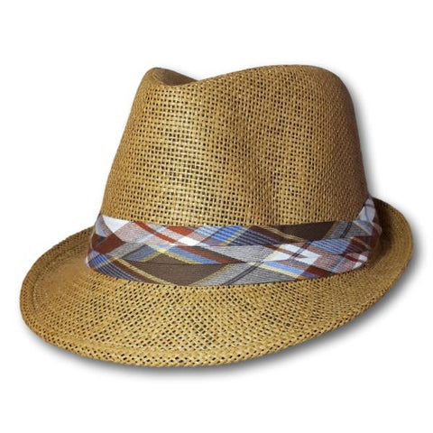 Fedora With Plaid Band