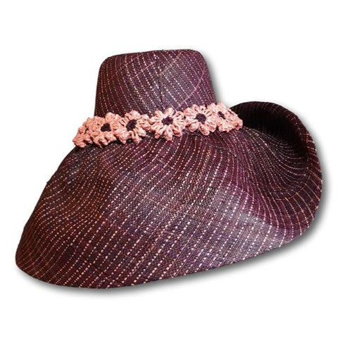 Crochet Flower Band Sun Hat
