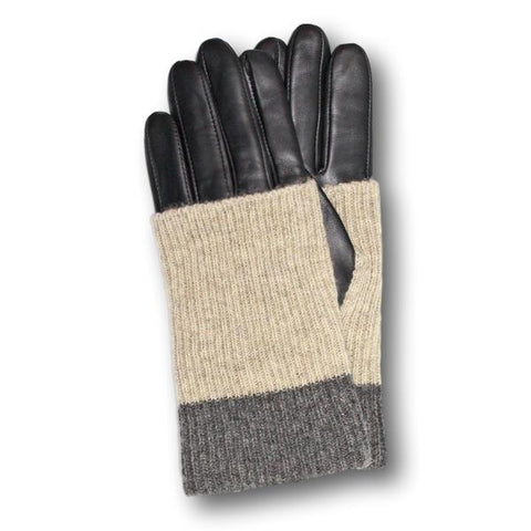 Wool Cuffed Leather Gloves