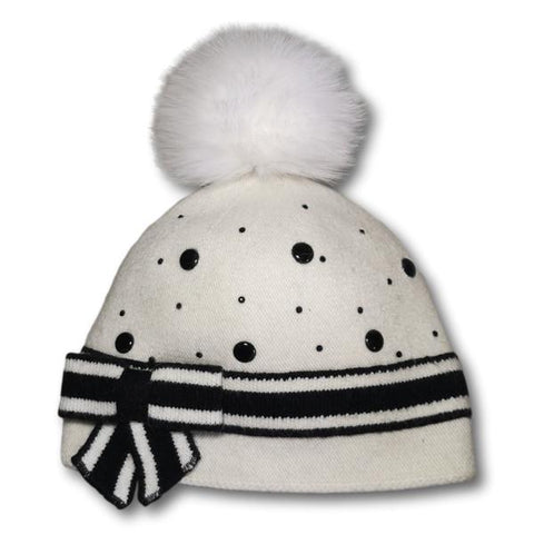 Studded Stripe Toque
