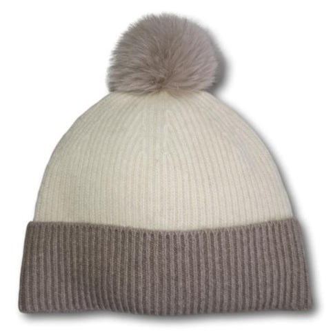 Two-Tone Rib Knit Toque