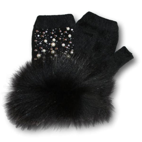 Fox Fur Cuffed Hand Warmers