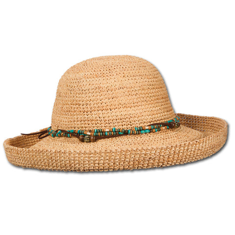 Beaded Raffia Upbrim