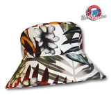 Tropical Print Brimmed Hat