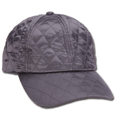 Quilted Satin Ball Cap