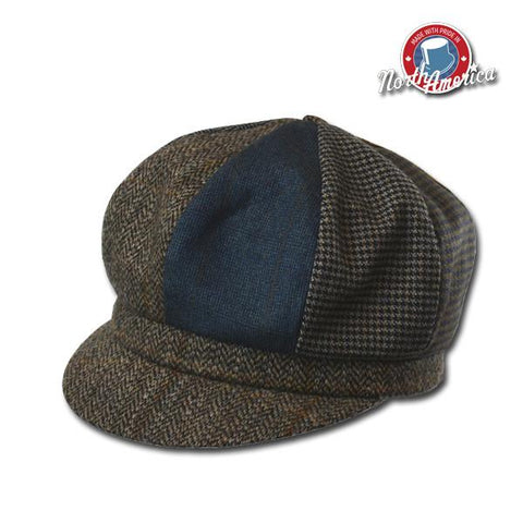 Patchwork Newsboy Cap