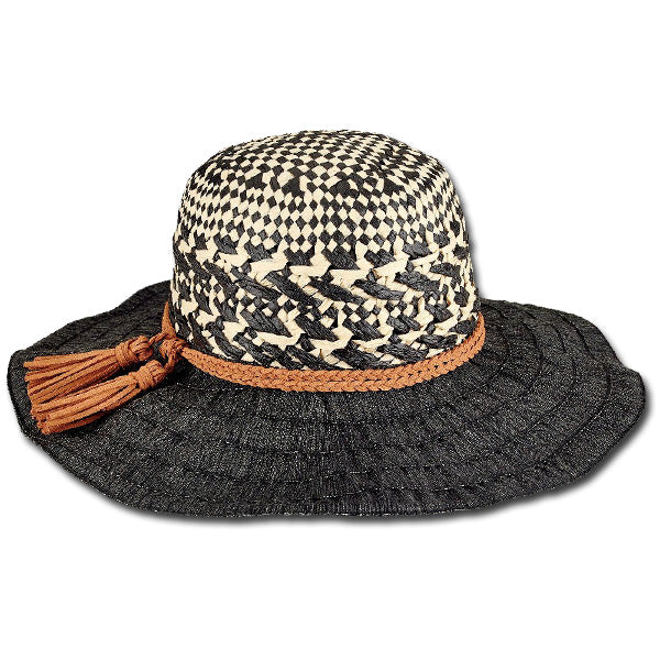 b70d6d46 Two Tone Woven Crown :: BeauChapeau Hat Shop