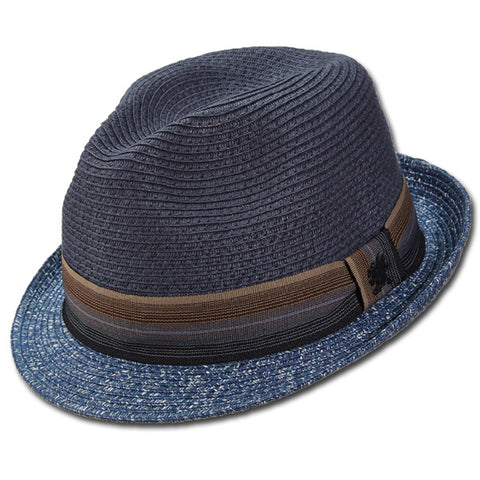 Stacy Adams Striped Fedora