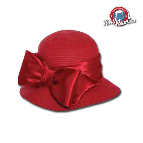 Satin Bow Cloche