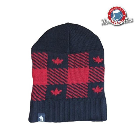 Buffalo Check Maple Leaf Slouchy