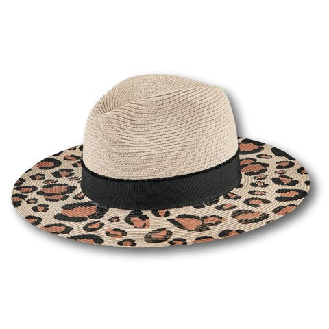 Animal Print Brim Fedora