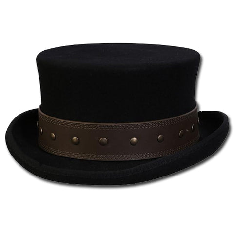 Steampunk Studded Top Hat