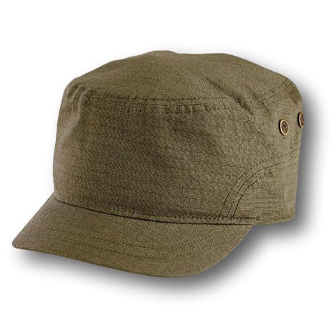 Textured Cotton Cadet Cap