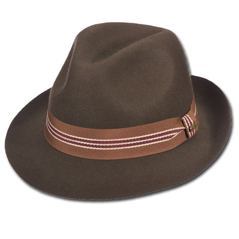 Autumn Striped Band Fedora