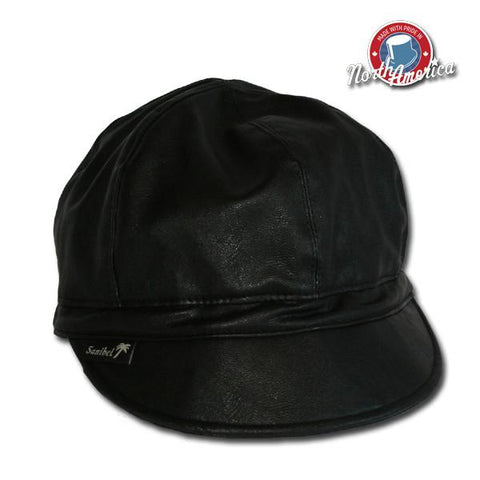 Faux Leather Rain Cap