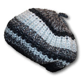 Multi Striped Knit Beret