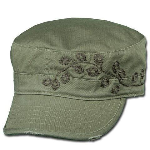 Distressed Filigree Cap