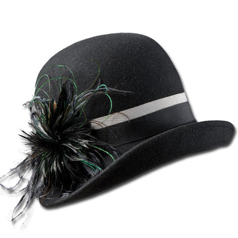 Feathered flapper Cloche