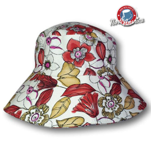 Abstract Floral Hat