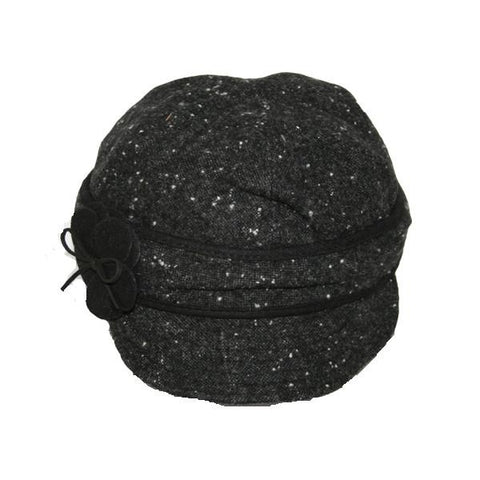 Tweed Flower Cap
