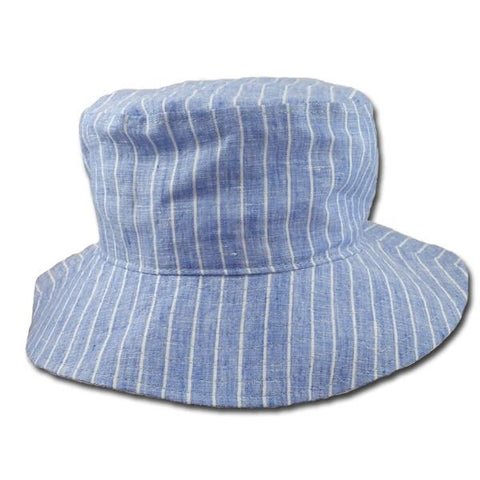 Chambray Pinstripe Brimmed Hat