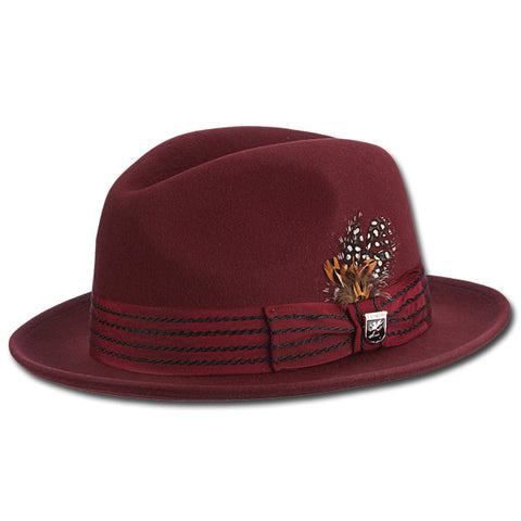 Stitched Stripe Fedora