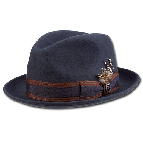 Two Tone Striped Band Fedora