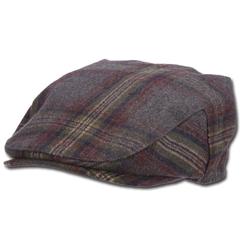 Wide Plaid Ivy Cap