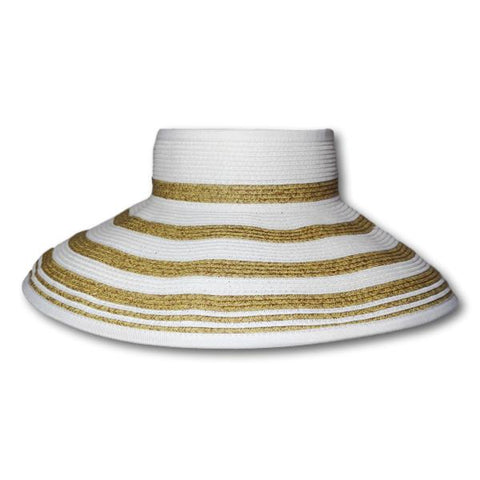 Two Tone Stripe Roll-up Visor